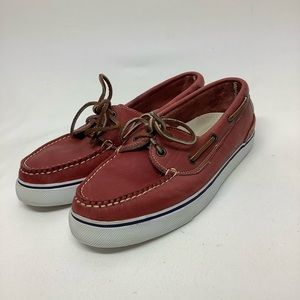 Cole Haan Size 9 boat deck red leather moccasins